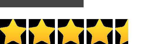 4.5 Stars Average User Rating