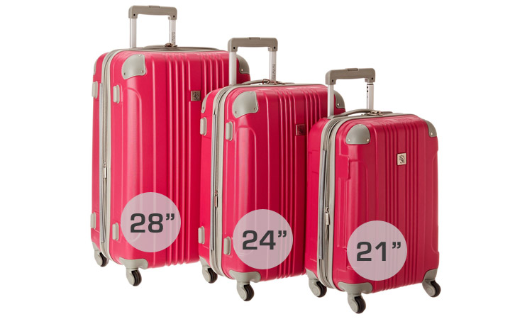 "Beverly Hills Country Club Malibu Luggage Set - Available in 3 sizes: 28"", 24"", 21"""