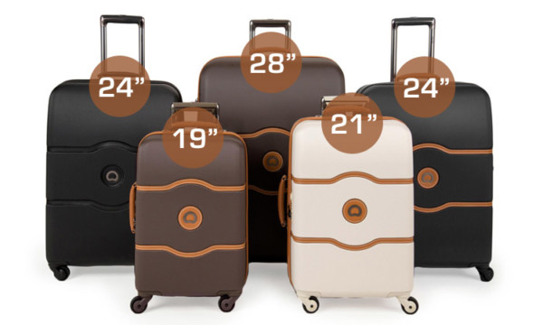 "Delsey Chatelet Luggage Available in Sizes 19"", 21"", 24"", 28"" - Delsey Chatelet Luggage"