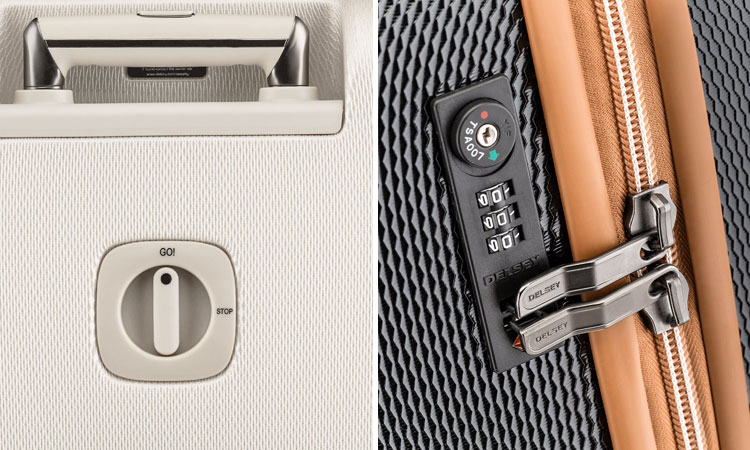 TSA Lock & Wheel Lock of Delsey Chatelet Luggage