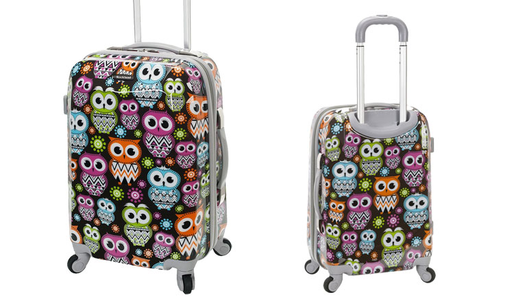 Rockland Owl Carry-On Luggage - Front & Back