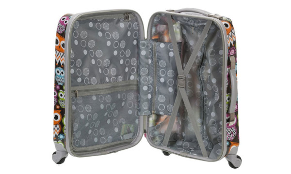 Rockland Owl Carry-On Luggage - Interior