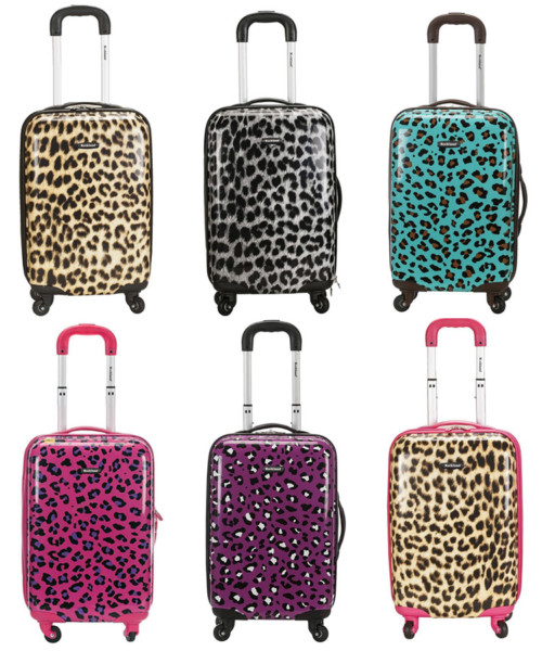 Rockland Leopard luggage comes in 6 feline-tastic colors