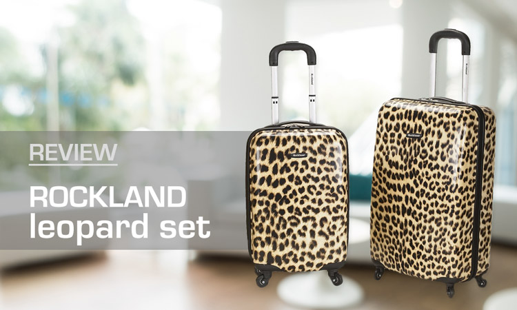 Rockland Leopard Luggage Set