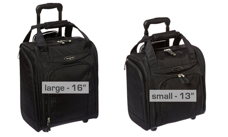 Samsonite Luggage Underseater - Sizes