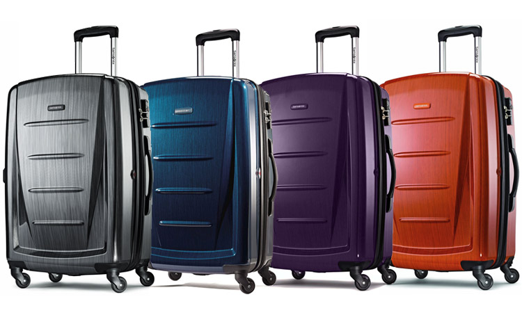 Color Options: Charcoal, Deep Blue, Purple, and Orange - Samsonite Luggage Winfield 2 Fashion 28""