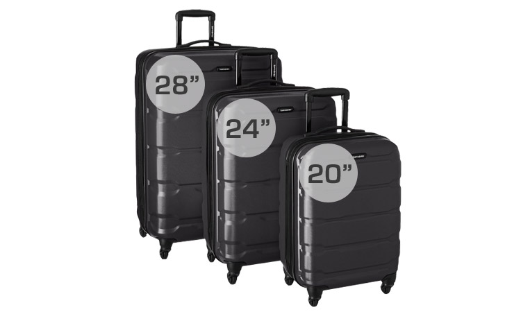 Samsonite Omni Luggage Set - Sizes