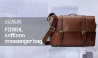 Fossil Saffiano Leather Messenger Bag Review