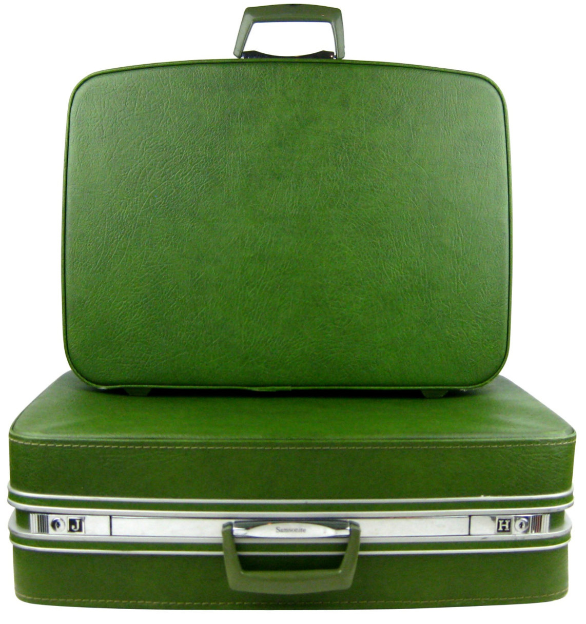 1960s Samsonite Fashionaire Two Piece Avocado Green ...
