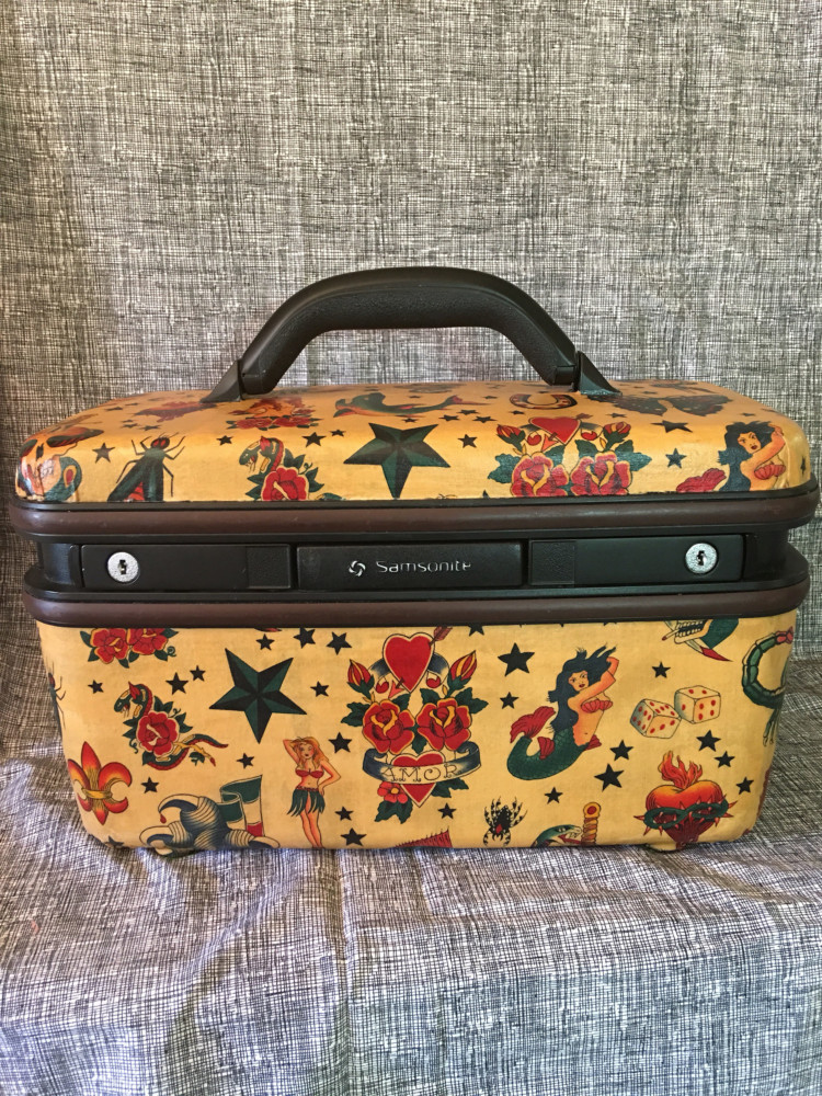 Samsonite Train Case Sailor Jerry Fabric Mod