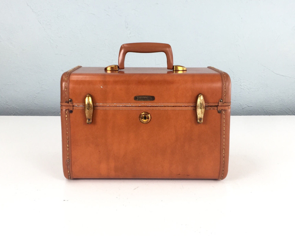 Samsonite Vintage Brown Suitcase