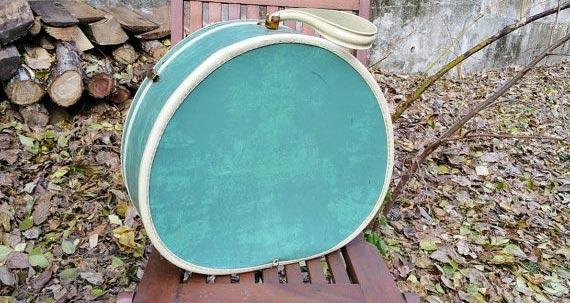 Samsonite Vintage Luggage Box Hat Green