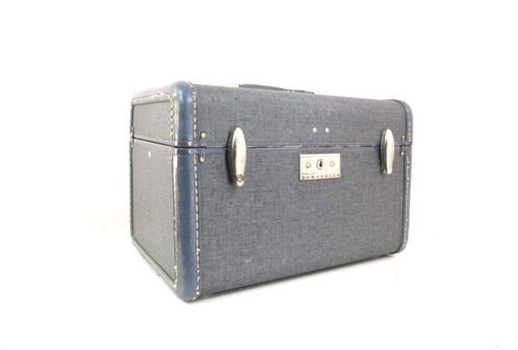 Samsonite Vintage Luggage Tweed Train Case