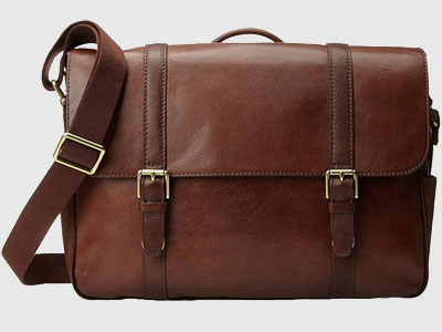 Fossil Saffiano Leather Messager Bag