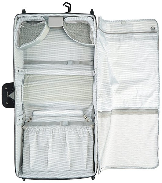 The Delsey Chatillon Wheeled Garment Bag Is Equipped With A Fully Lined Interior Handy Adjule Compression Straps Secure Clothing Soundly