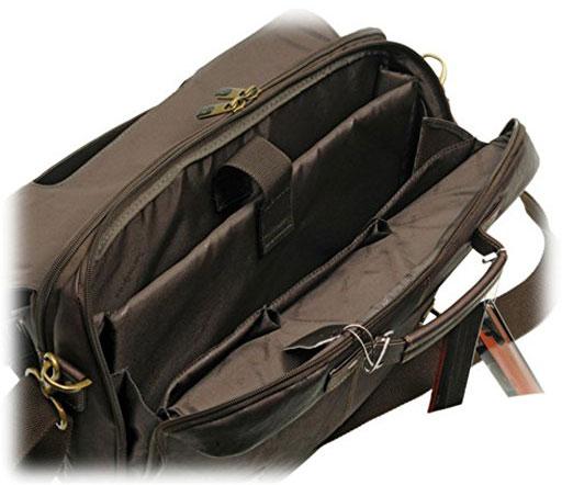 Samsonite Columbian Leather Messenger Bag Interior