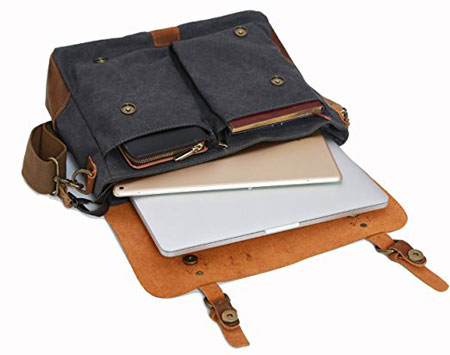 Wowbox-Messenger-bag-Vintage-canvas-leather-interior