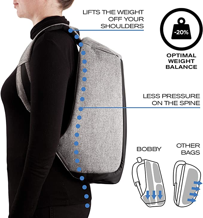 Bobby Original Anti-Theft Backpack Ergonomic Design